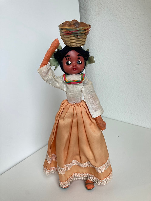 Handmade Standing Doll Made in Mexico