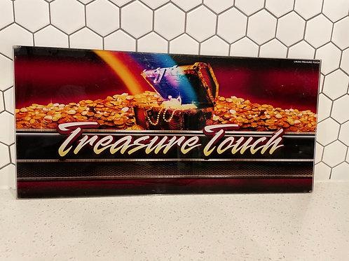 "Vintage ""Treasure Touch"" Plastic/Acrylic Pinball Machine Sign"
