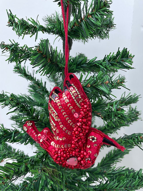 Handmade Sequined Felt Stuffed Ornament