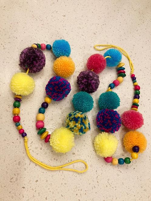 Handmade Colorful PomPom Garland