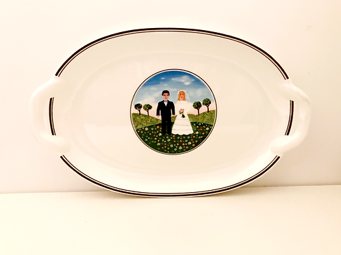 Naif Wedding Pickle Dish Tray Platter by Villeroy & Boch