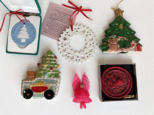 Set of 6 Vintage  Ornaments