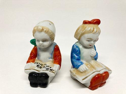 Vintage Japan Girl & Boy Salt & Pepper Shakers