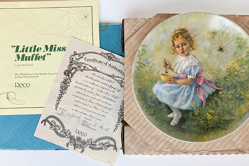 "Vintage 1981 Bradford Exchange ""Little Miss Muffet"" Collector's Plate"