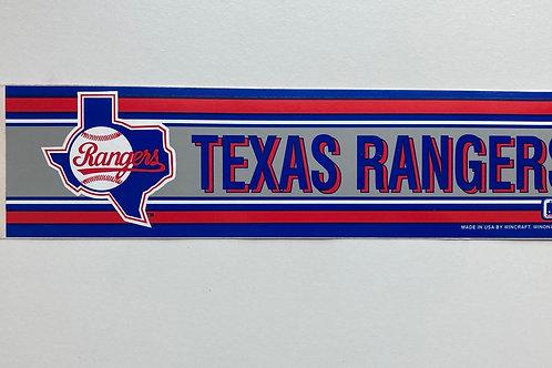 Vintage Wincraft Texas Rangers Bumper Sticker