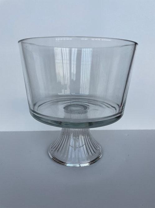Vintage Clear Glass Bowl on Pedestal