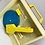 Thumbnail: Vintage Fisher Price 1971 Music Box Record Player w/ 5 Discs