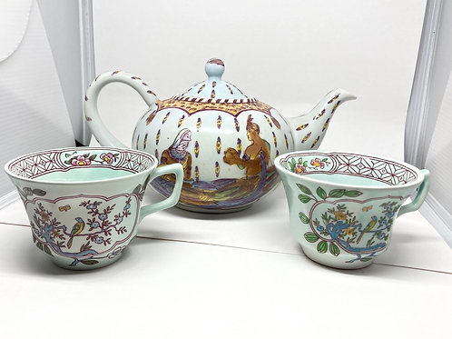 Ashby's Collectors Edition Teapot w/ 2 TeaCups
