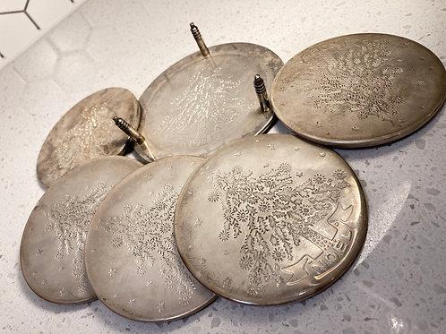 Vintage set of 5 Noel Silver Plated Coasters