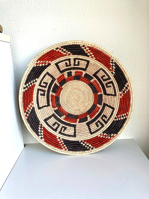 "14.5"" Handmade Southwest Style Decorative Coil Basket #25"