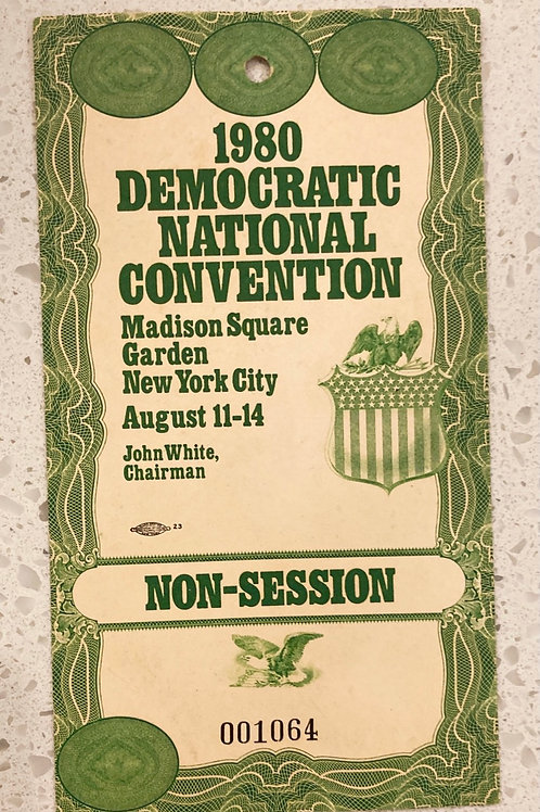 1980 Democratic National Convention Non-Session Official Ticket