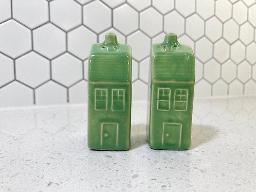 Set of Vintage House Salt & Pepper Shakers