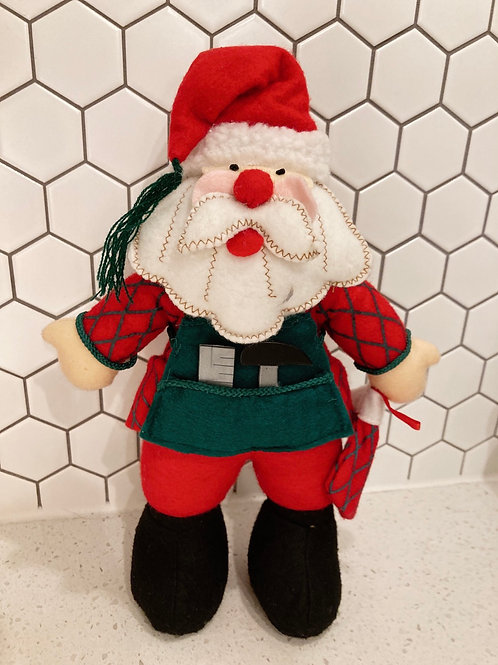 Handmade Felt Standing Weighted Santa Claus