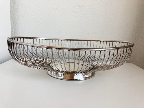 Vintage Raimond Silverplated Wire Basket