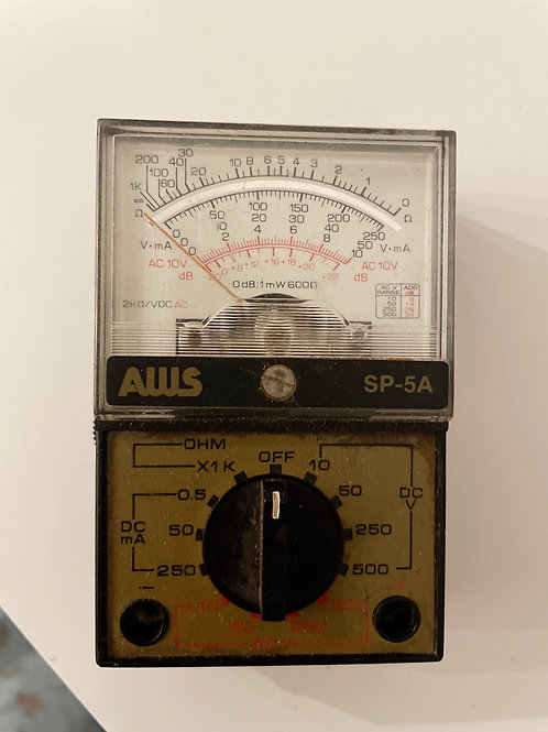 Vintage AWS multi-tester model SP-5A w/ Leather Case