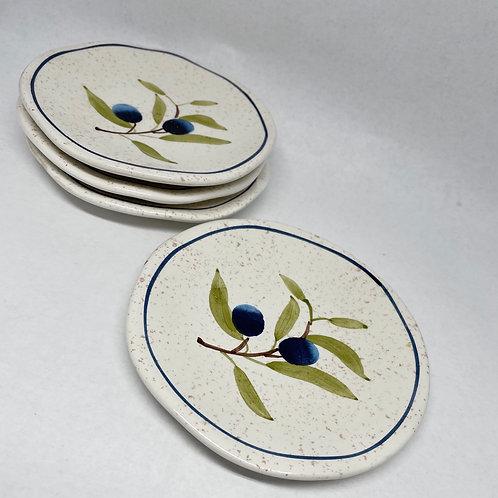 Set of 4 Vintage Designpac Inc. Plates