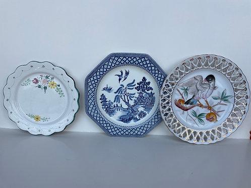 Set of 3 Vintage Misc Plates