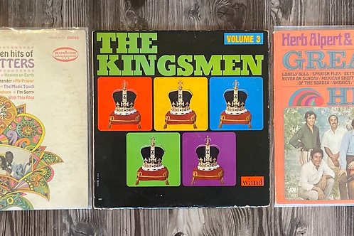 Set of 3 Vintage 1960s Records