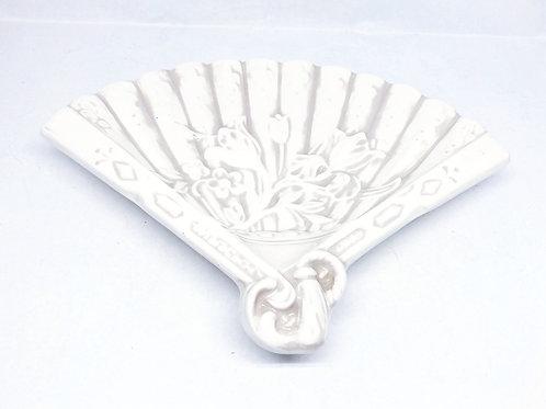 Vintage Porcelain Fan Shaped Trinket Dish