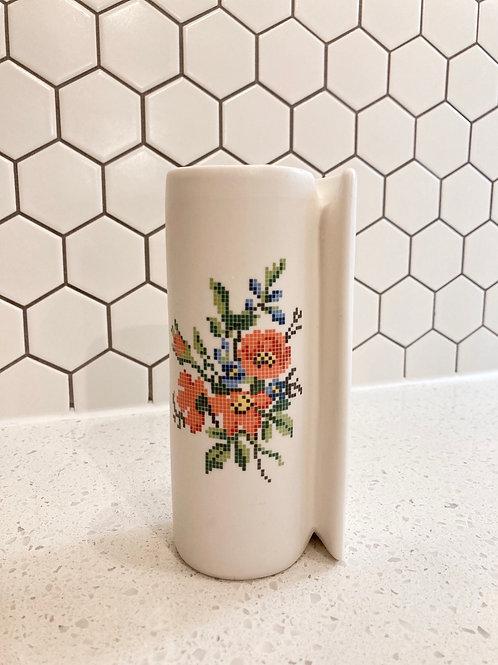Handmade Flower Pixelated Vase