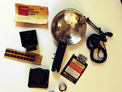 Vintage Argus Handheld Camera Flash Unit & Photo Accessories