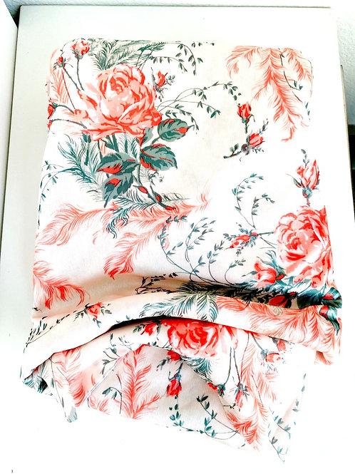 Vintage Rose Patterned Fabric