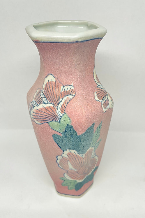 Vintage Handmade Pink Vase
