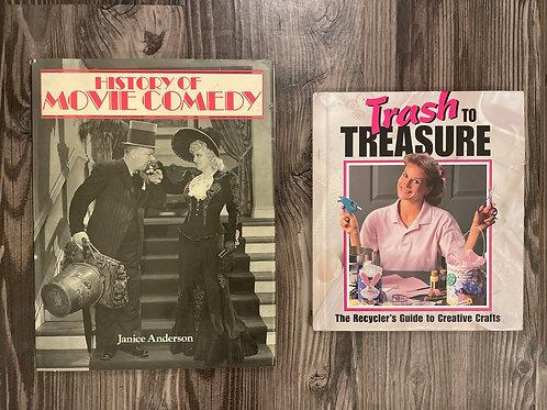 Set of 2 Vintage Books: DIY & Movies