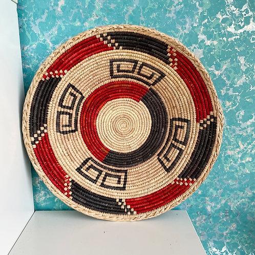 "13.5"" Handmade Southwest Style Decorative Coil Basket #07"