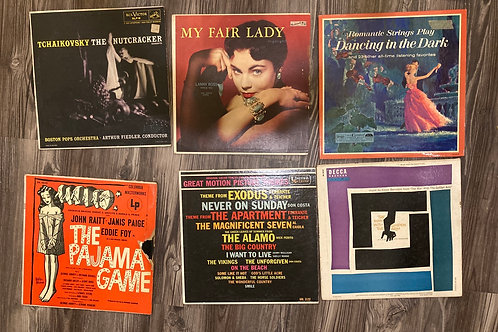 Set of 6 Motion Picture/Play Records