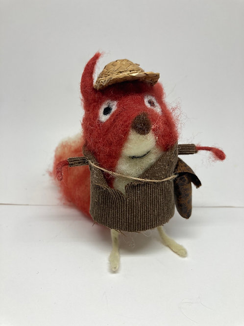 Funny Handmade Felt Fox Traveler