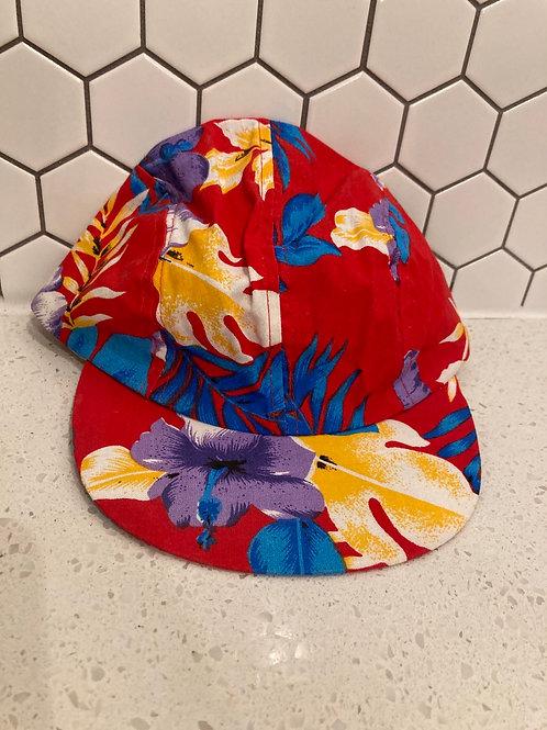 Vintage Wendy's Retro Red Short Bill Hawaiian SnapBack Hat
