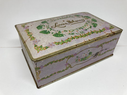 Vintage Louis Sherry Tin Box