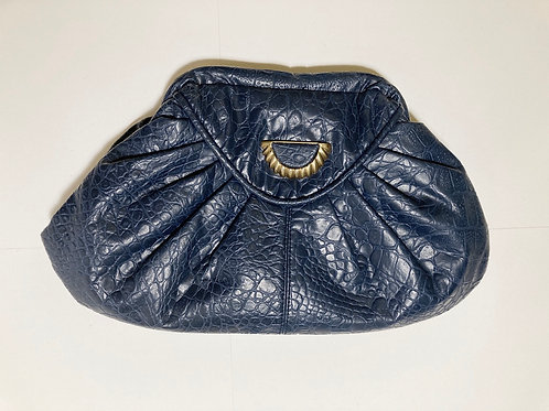 Vintage Faux Leather Retro Clutch