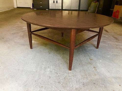 Vintage Mid Century Modern Round Laminate Top Coffee Table