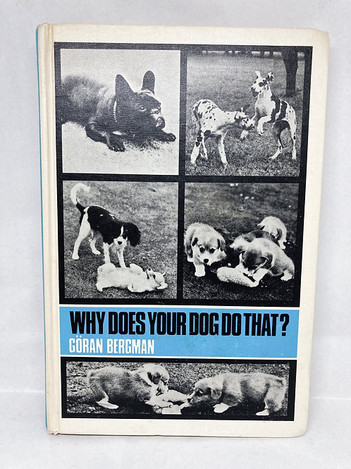 "Vintage Hardback ""Why Does Your Dog Do That?"" By Bergman,"