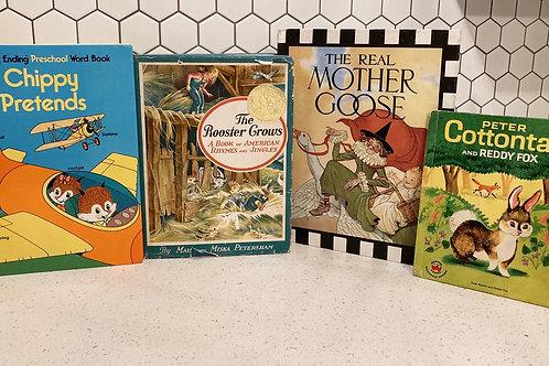 Set of 4 Vintage Kids Books