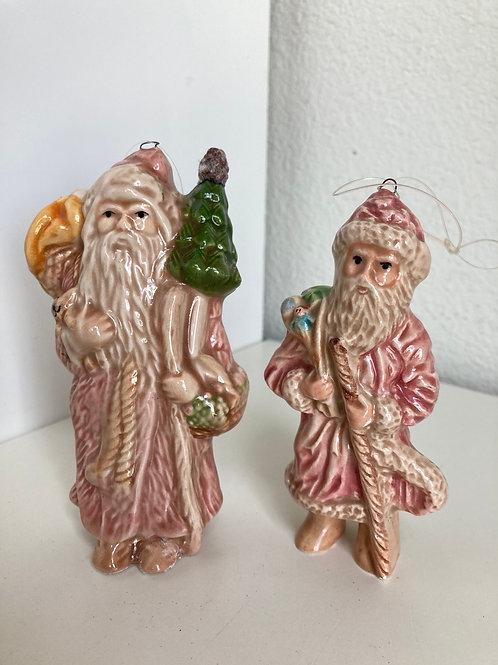 Set of 2 Vintage Silvestri Porcelain Ornaments