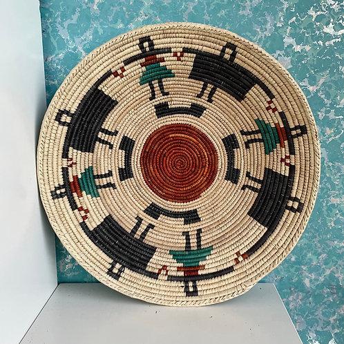 "13.5"" Handmade Southwest Style Decorative Coil Basket #11"