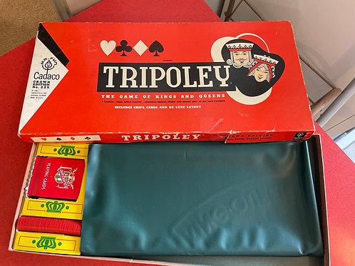 Vintage 1962 Tripoley Game