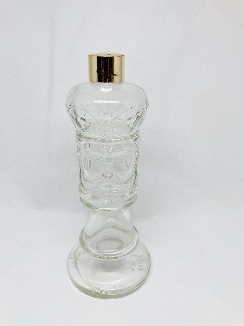 Vintage Hai Karate Glass After Shave King Double Face Bottle
