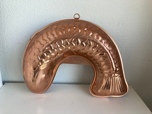 Vintage Copper Fish #2 Jello Mold Wall Hanging