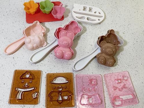 Japanese 3D Animal Bento Rice Molds & Seaweed Nori Cutter Set