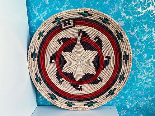 "13.5"" Handmade Southwest Style Decorative Coil Basket #10"