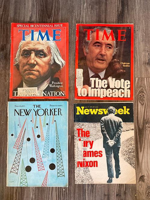 Set of 4 Vintage News/Politcal Magazines #8