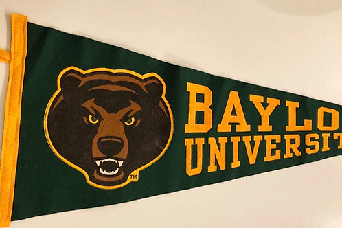 Baylor University Collegiate Pacific Felt Pennant