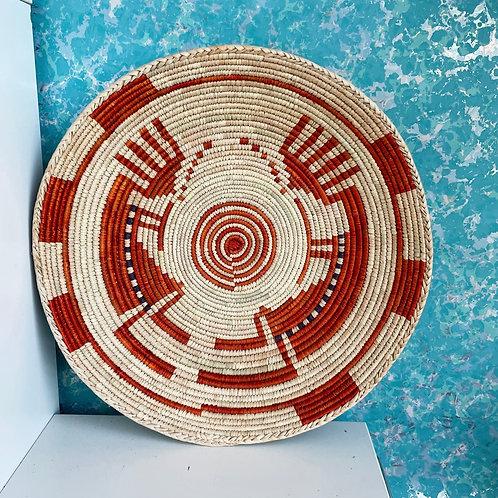 "13.5"" Handmade Southwest Style Decorative Coil Basket #15"