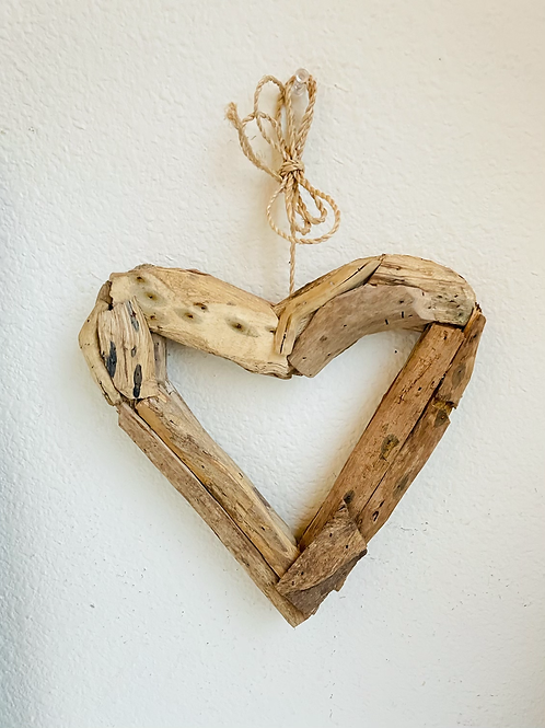 Handmade Wooden Hanging Heart Wreath