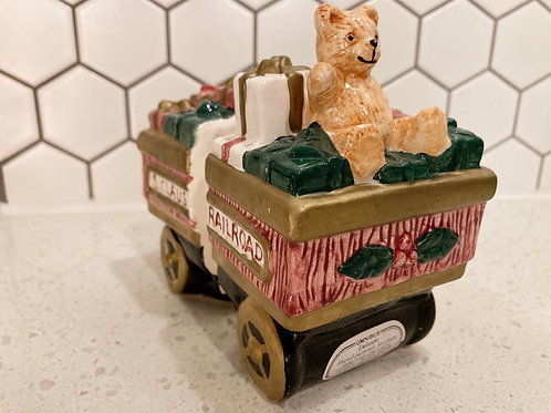 Vintage Fitz & Floyd OCI Omnibus S&P Shakers Railroad