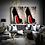Thumbnail: SOLD Acrylic Canvas Wall Art Red Louboutin Heel Pop Art Chic Glitter Exp